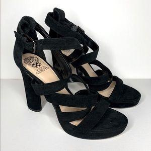 NWOT Vince Camuto Black Suede Sandal High heels